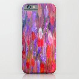 Fiery Sunset Field of Flowers iPhone Case
