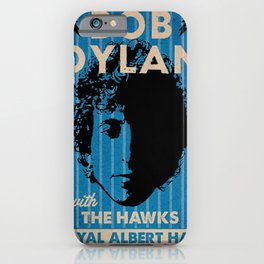 Vintage 1966 Bob Dylan and The Hawks Royal Albert Hall Concert Poster iPhone Case