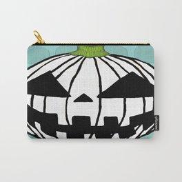 White Pumpkin Jack O Lantern  Carry-All Pouch