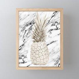 Marble Pineapple Framed Mini Art Print