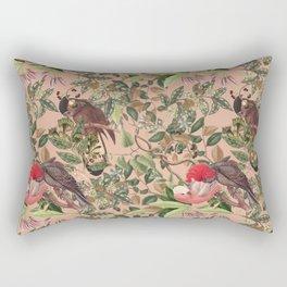 COCKATOO IN THE TROPICAL JUNGLE Rectangular Pillow