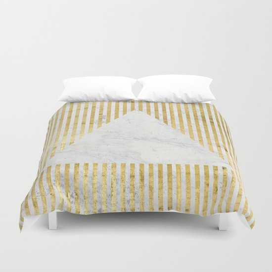 inverse trian gold Duvet Cover