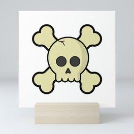 SKULL & CROSSBONES Mini Art Print