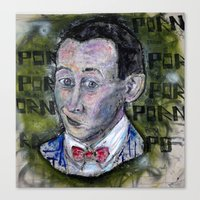 pee wee Canvas Prints featuring pee wee by Roosterface