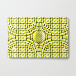 Nature, Mandala, Flower, Lemon, Leaves, Variant, Pattern, positivity0320 Metal Print