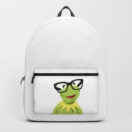 Hipster Kermit - the Optimistic Frog Backpack
