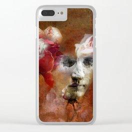 Comme une fleur Clear iPhone Case