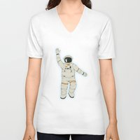 outer space V-neck T-shirts featuring Outer Space by Tuylek