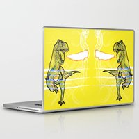 t rex Laptop & iPad Skins featuring T-Rex by Mr Patch