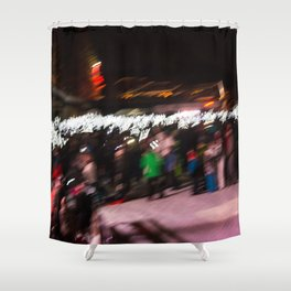 Torchlight descent Shower Curtain