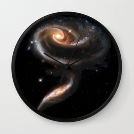 Galaxy Rose Peach Wall Clock