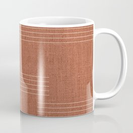 Mudcloth, Minimal, Pattern, Boho Prints, Terracotta Coffee Mug
