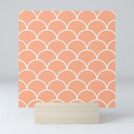 Scales - pink Mini Art Print