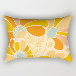 Sunny Flowers / Floral Illustration Rectangular Pillow