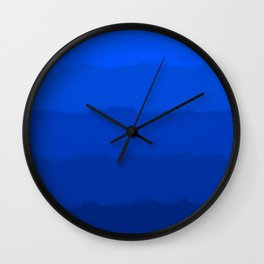 Endless Sea of Blue Wall Clock