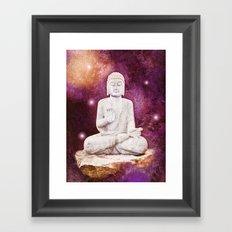 BUDDHA | Red Lights Framed Art Print