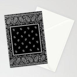 Classic Black Bandana Stationery Cards