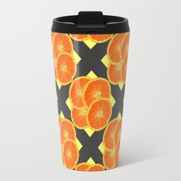 CONTEMPORARY SUCCULENT  ORANGES BLACK-GREY ART DESIGN Travel Mug