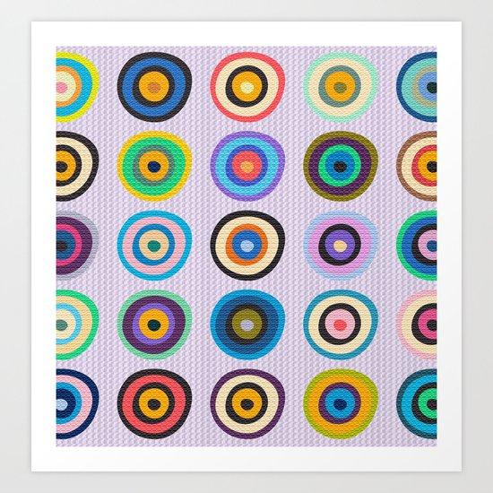 Colorful Circles VI Art Print