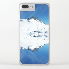 Mirrored mountain 4 Clear iPhone Case