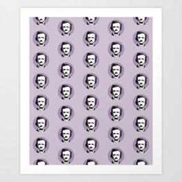 Edgar Allan Poe-ka Dots Art Print