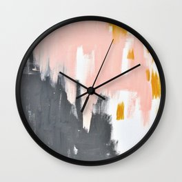 Gray and pink abstract Wall Clock