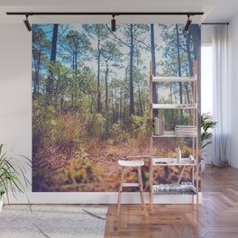 Trees in the Middle of Wilderness Wall Mural