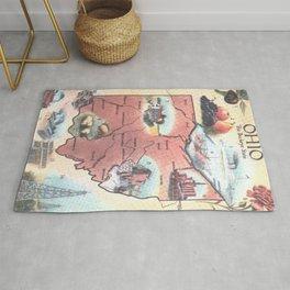 Vintage Map of Ohio (1921) Rug