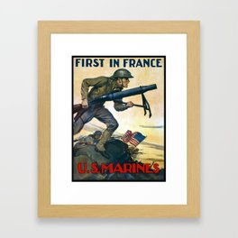 US Marines -- First In France Framed Art Print