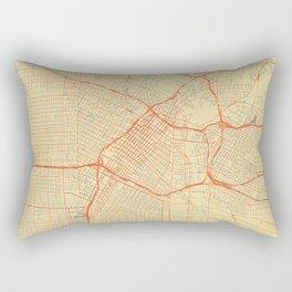 Los Angeles Map Retro Rectangular Pillow