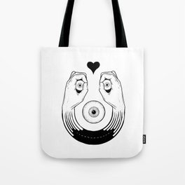 Smile like your heart means it Tote Bag