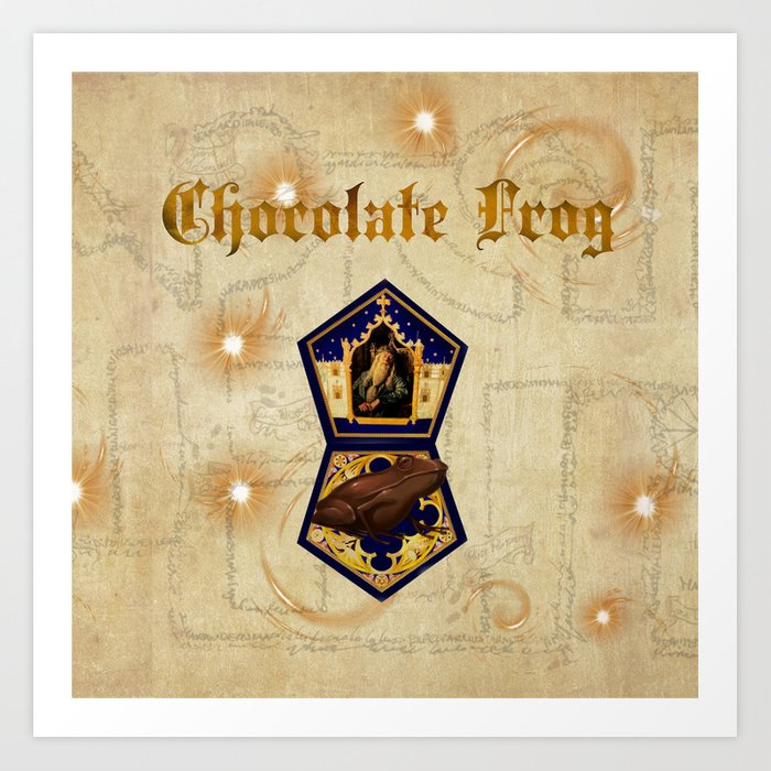 Chocolate Frog Art Print by thealleycatemporium | Society6