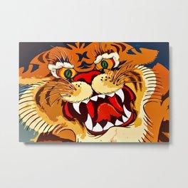 Tibetan Tiger Metal Print