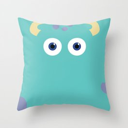 PIXAR CHARACTER POSTER - Sulley 2- Monsters, Inc. Throw Pillow