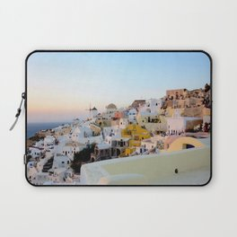 Wide Shot of Santorini at Sunset Laptop Sleeve