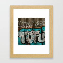 I love tofu Framed Art Print