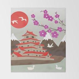 Japanese Pagoda Throw Blanket