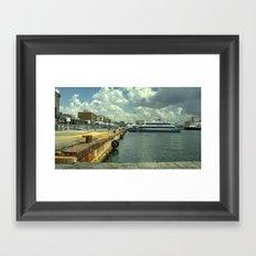Port of Naples Framed Art Print