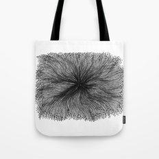Jellyfish Large B&W Tote Bag