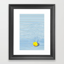 Rubber Ducky Framed Art Print