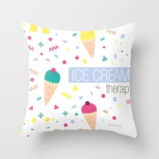 Ice Cream Therapy Throw Pillow