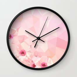 Pink Geometric Patter Wall Clock