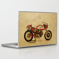 ducati Laptop & iPad Skins featuring Ducati 750SS Corsa 1974 by Larsson Stevensem