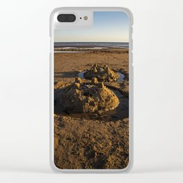 sandcastles on the beach Clear iPhone Case
