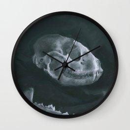 Racoon Skull Wall Clock