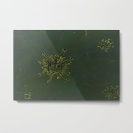Virus, biology, oil painting by Luna Smith, LuArt Gallery, nature Metal Print