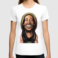 marley T-shirts featuring Celebrity Sunday - Robert Nesta Marley by rob art | illustration