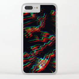 TRIPPY COLORFUL WATER RIPPLES Clear iPhone Case