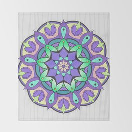 Mandala Awakening 2 Throw Blanket