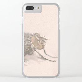 The Fly - Movie poster from David Cronenberg's classic horror film with Jeff Goldblum Clear iPhone Case